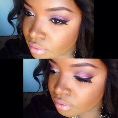 DyvaPlusMakeup Romantic makeup look for darkskin