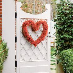 Nandina Heart Shaped Wreath