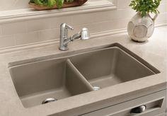 Blanco 441286 Diamond Equal Double Bowl Silgranit Ii Undermount Kitchen Sink Truffle Faucetdepot Com Undermount Kitchen Sinks Sink Kitchen Sink Accessories