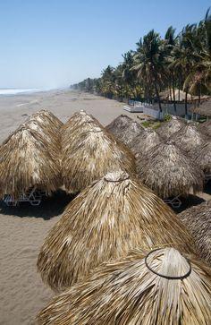 Palapas, El Salvador I wanna go! San Salvador, Barbados, Jamaica, Costa Rica, Honduras, Belize, Santa Lucia, Places To Travel, Places To See