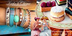 Workshop sieraden maken & High Tea and dutch design jewelry making organised by Kieke le Chique. Enjoy it! #thehaque #workshop #jewelry #diy #making #hightea