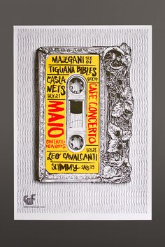Silk Screened Poster Series | Café Concerto by Atelier Martinoña , via Behance