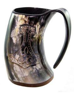 Single Unicorn Mug Viking Drinking Horn Mug Christmas Day Edition UK