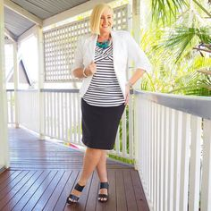 Today's #everydaystyle ... and Day 2 of my #ultimatecapsulewardrobe online style program. Brisbane has switched it's spring switch on so I only had the jacket on for a meeting this afternoon.  Wearing: Bird Keepers @birdsnestonline jacket and skirt; @bohemian.traders top; @rubyoliveonline necklace; @louenhide earrings; @frankie4footwear NiKKi heels (follow the link in profile for all the links)