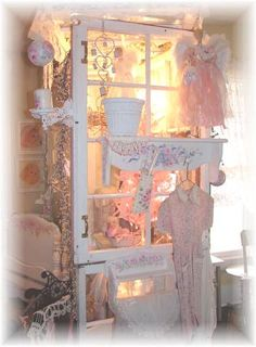 Missfitrosey Handpainted Vintage Shabby Rose, victorian, Chic Cottage by Sheil Cottrell. Ho