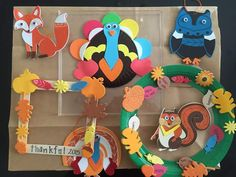Colorful Felt Soft Animals Thanksgiving Crafts for Preschool Kids