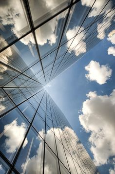 Architecture + reflected clouds. Glorious composition.