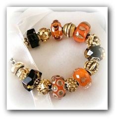 Royal Orange bracelet. Another beautiful bracelet with gold from a collector from Wales!