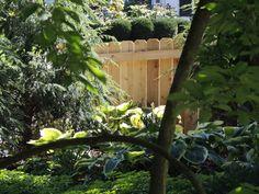 4' high, built on site, solid style, cedar wood fence