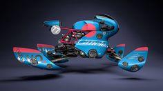 Hoverbike render by Vaughan Ling