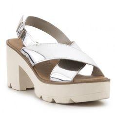 Sandalia tacón track metalizada CREEKS Platform, Wedges, Heels, Fashion, Shoes Sandals, Women, Heel, Moda, La Mode