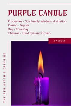 Purple Candle meaning and uses - Purple candles symbolize spirituality and wisdom. Use purple candles in magic spells and rituals to expand your spiritual awareness, higher consciousness, to open your third eye, and connect with your spirit guides. Light a purple candle to improve divination, manifestation, uncover spiritual secrets and remove curses. | Click to see the best-selling magic spell purple candles (+ reviews and why people love them). Candle Magic, Candle Spells, Candle Set, Candle Meaning, Opening Your Third Eye, Purple Candles, Magic Crafts, Color Meanings, Higher Consciousness