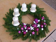 Christmas Advent Wreath, Handmade Christmas Decorations, Christmas Time, Christmas Crafts, Merry Christmas, Xmas, Holiday Decor, Rustic, Home Decor