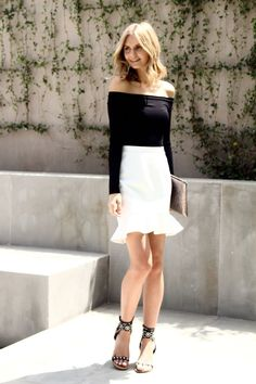 evening-outfit-flared-bottom-skirt