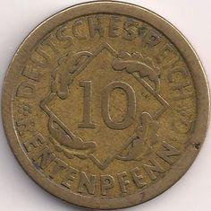 Wertseite: Münze-Europa-Mitteleuropa-Deutsches Reich-Mark-0.10-1923-1925