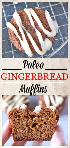 Paleo Gingerbread Muffins- gluten free, dairy free, and sweetened with honey. These muffins have all the warm flavors of gingerbread, but made healthier!