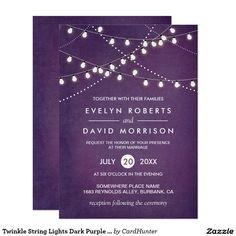Twinkle String Lights Dark Purple Outdoor Wedding