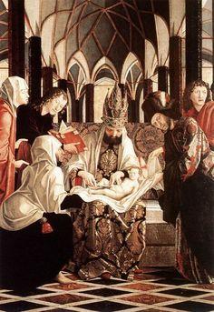 Michael PACHER  [Austrian Northern Renaissance Painter, ca.1430-1498]  St Wolfgang Altarpiece: Circumcision 1479-81 Wood, 173 x 140,5 cm Parish Church, Sankt Wolfgang