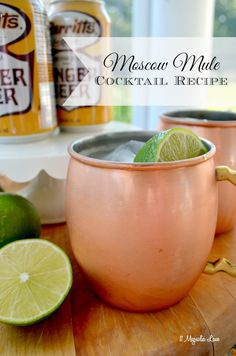 Moscow Mules are such a refreshing drink, and so easy to make, so they're perfect for entertaining!  Fill a copper mug with crushed ice (I found mine at HomeGoods), add 1 shot vodka, the juice of 1/2 lime, and then fill with ginger beer.  SO good!  Leave the vodka out for a non-alcoholic version, or use diet ginger beer for a skinny cocktail. The copper mugs keep drinks extra cold (as well as being gorgeous) and you'll find that you love to use them for all of your cold beverages.  Sponsored…