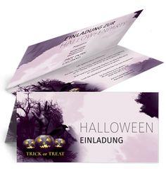 Günstige Einladungskarten mit Falz Oben in verschiedenen Farben jetzt online kaufen. #halloweenparty #halloweenfeier #halloween