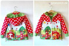 Michael Miller Gnome Dwarf jacket Gnomeland-fabric