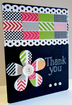 Myprincess-peaches Blogspot: Wednesday Card Day: Washi Tape Cards
