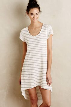 Striped High-Low Chemise - by 1804anthropologie.com