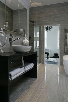 Bathroom interior design homes bathtub shower sink tile gay masculine decor Boscolo - The Townhouse - Bathroom