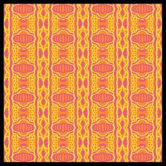 """Jasper"" - Color Throwdown Challenge CTD308 - Digital Seamless Tiling Abstract Design in Yellow, Orange and Pink by Renee Dillon"