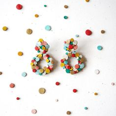Rainbow Confetti cluster Leather donut Earrings   + + +  #upcycled #rainbow #earrings #statementearrings #donut #cluster + + +  Scandinazn
