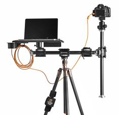 Tether Table Aero laptop podium tray mounts on all tripods including Gitzo and Manfrotto as well as any studio photography light stand Diy Camera Slider, Photography Light Stand, Dream Studio, Low Lights, Telescope, Videography, Creative Business, Connect, Create
