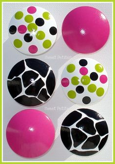 Hand Painted Knob Dresser Drawer Hot Pink by SweetPetitesBoutique, $6.00