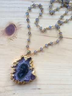 Amethyst Stalactite Slice on Beaded by MaryKathrynDesign on Etsy