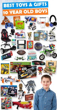 tons of great gift ideas for 10 year old boys