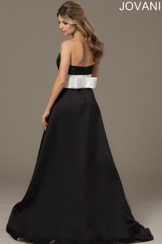 Jovani 98248 Evening Dress Taffeta Back Bow
