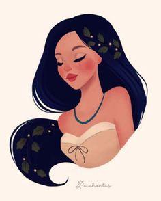 Pocahontas por Diana Pedott.