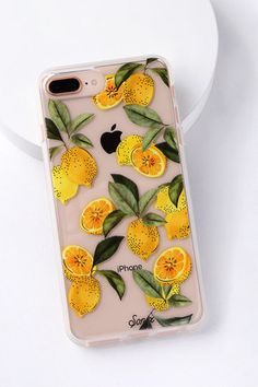Keep your phone stylish and safe with the Sonix Lemon Zest Clear and Yellow Plus, 7 Plus, and 8 Plus Case! Clear and lemon print case.