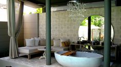 Not your traditional bathroom. The most excellent SALA Phuket Resort & Spa. Outdoor Baths, Outdoor Bathrooms, Dream Bathrooms, Hotel Bathrooms, Beautiful Bathrooms, Outdoor Rooms, Outdoor Living, Spa Design, Bath Design