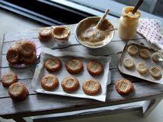 Dollhouse miniature baking peanut butter cookies by Kimsminibakery on Etsy