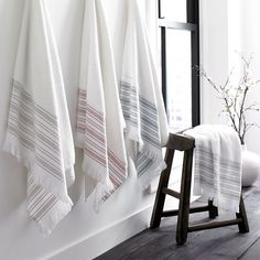 Shop Sofia Bath Towel from Kassatex at Horchow, where you'll find new lower shipping on hundreds of home furnishings and gifts. Turkish Bath Towels, Turkish Cotton Towels, Egyptian Cotton Sheets, Modern Bathroom Decor, Bathroom Ideas, Modern Bathrooms, Bath Sheets, Bath Accessories, Dorm Decorations