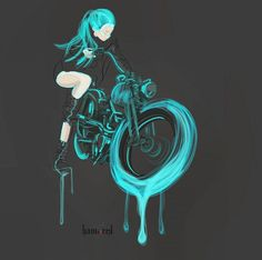 motorcycle art by hamerred Cool Motorcycle Helmets, Motorcycle Tattoos, Anime Motorcycle, Manga Anime, Cult, Black And White Picture Wall, Bike Art, Biker Girl, New Motorcycles