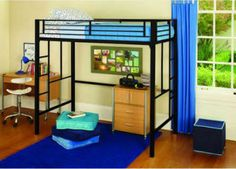 Your Zone Metal Loft Twin Bed ...