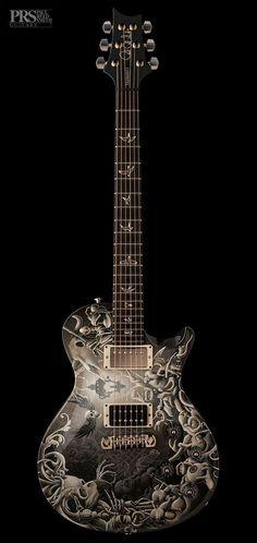 Mark Tremonti PRS Custom illustrated guitar by Joe Fenton lessonator.com #lessonator #PRSGuitars