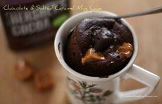 Chocolate And Salted Caramel Mug Cake #Food #Drink #Trusper #Tip