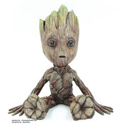 3d printed Baby Groot from Guardians of the Galaxy 2