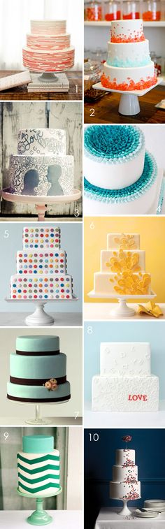 ombre cake (#4) = rad and totally do-able.