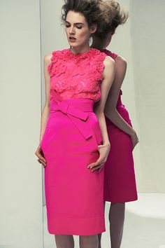 Pretty in pink by Oscar de la Renta #fashion #saks