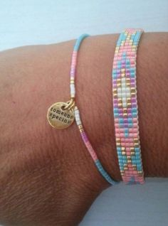 ✔ Jewelry Accessories Bracelets Diamond I needed showing you steps to make a bracelet with natural stone … Loom Bracelet Patterns, Bead Loom Bracelets, Bead Loom Patterns, Jewelry Patterns, Beading Patterns, Beading Ideas, Beading Supplies, Diy Bracelet, Jewelry Bracelets
