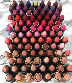 Massive Lipstick Collection  by @cassydaraiche . . . . . . . . #makeup #makeuplover #slaytheflatlay #motd #slay #goals #luxury…""