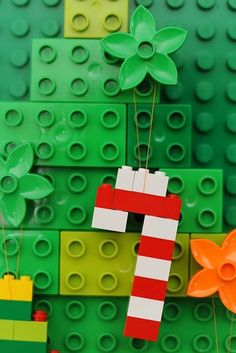 Experiment next Christmas with DIY Lego ornaments.